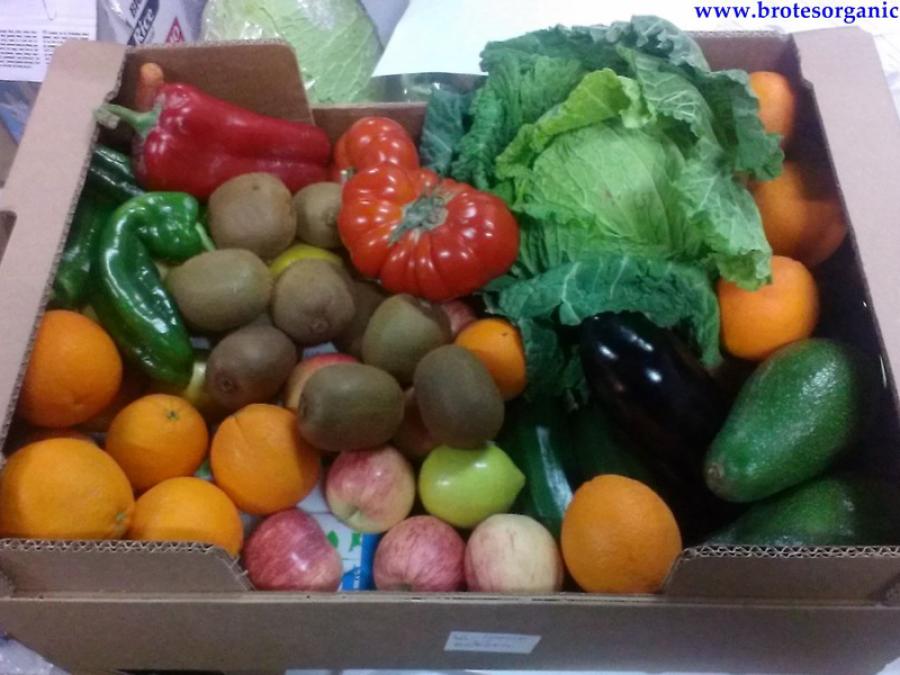 caja fruta y verdura ecologica 25€